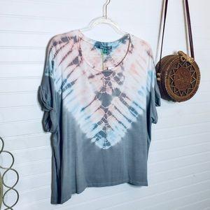 NEW Grey Hues Tie Dye T Shirt